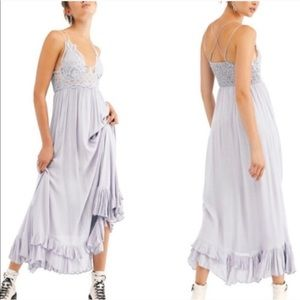 NWT Free People Adella Maxi Slip Dress Stardust XS